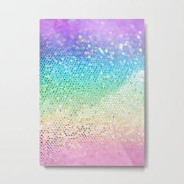 Rainbow Princess Glitter #3 (Faux Glitter - Photography) #shiny #decor #art #society6 Metal Print