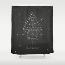 Carpe noctem Shower Curtain