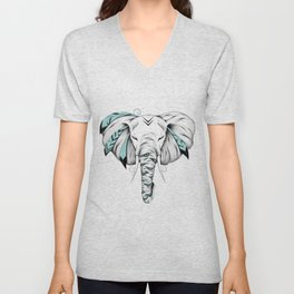 Poetic Elephant Unisex V-Neck