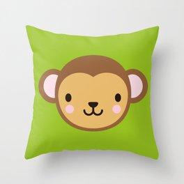 Monty the Monkey Throw Pillow