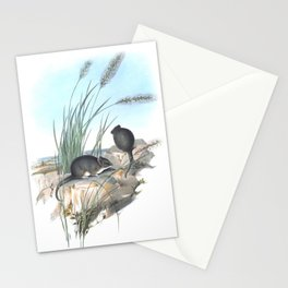 Mice in the reed overviewing the ocean Stationery Cards