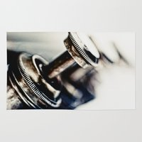 trumpet Area & Throw Rugs featuring Tough Trumpet... by Bob Daalder