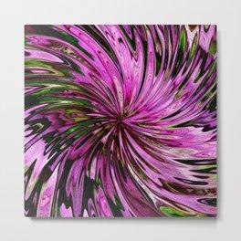 Floral Swirl Metal Print