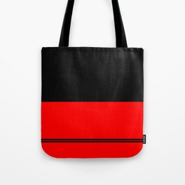 Black and red design Tote Bag