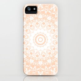 Pale Pumpkin and White Mandala iPhone Case