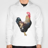 rooster Hoodies featuring Rooster by Sean Foreman