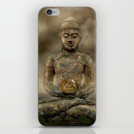 Buddha in the sand iPhone Skin