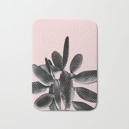 Black Blush Cactus #1 #plant #decor #art #society6 Bath Mat