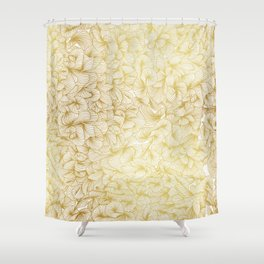 Gold Inklings Shower Curtain