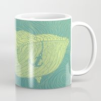 the whale Mugs featuring Whale by Guapo
