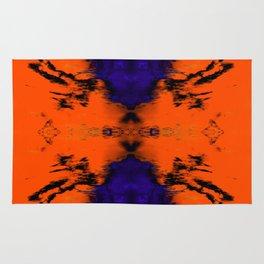 abstrackt blue/orange Rug