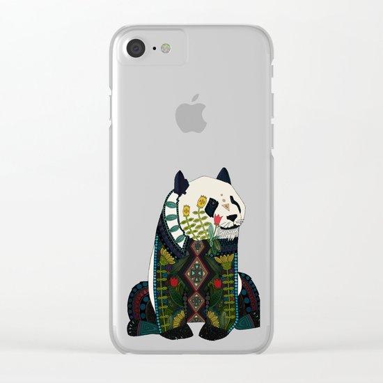 panda ochre Clear iPhone Case