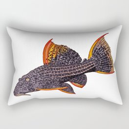 Scarlet Pleco Full Color Rectangular Pillow