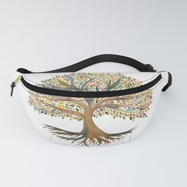 Tree of Life Watercolor – Autumn Fanny Pack