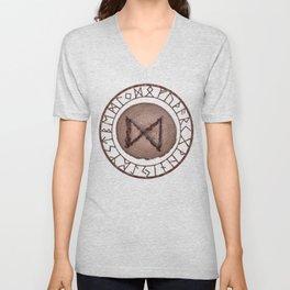 Dagaz - Elder Futhark rune Unisex V-Neck