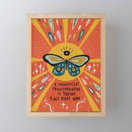 A magnificent transformation Framed Mini Art Print