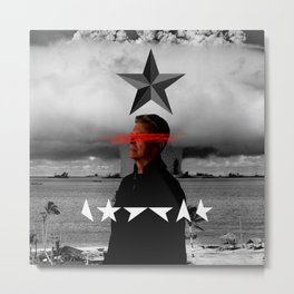 "B.O.W.I.E ""Black Star"" Metal Print"