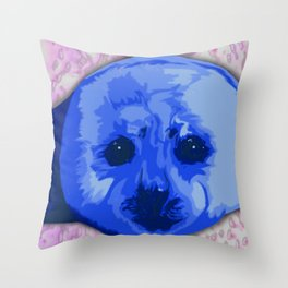 Harp Seal Throw Pillow