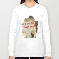 dramatical murder Long Sleeve T-shirts featuring Murder Board by Sybille Sterk