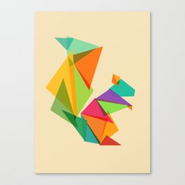 Fractal geometric Squirrel Canvas Print