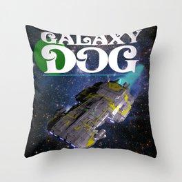Galaxy Dog Throw Pillow