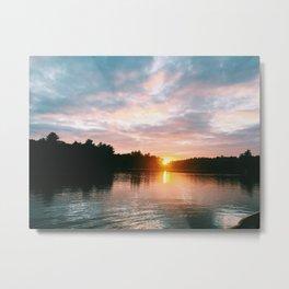 Northbound Sunset Metal Print