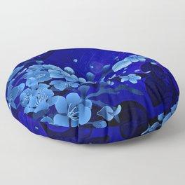 Cherry blossom, blue colors Floor Pillow