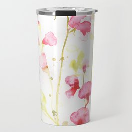Sweet Peas Please Travel Mug