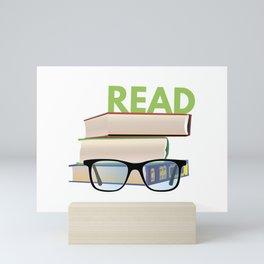 Read Books to Be More Interesting Mini Art Print