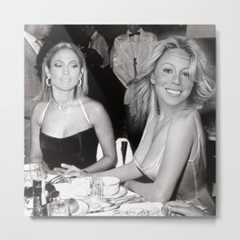 FEUD: Mariah and Jlo Metal Print