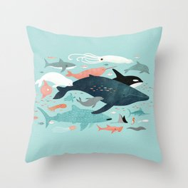 Under the Sea Menagerie Throw Pillow