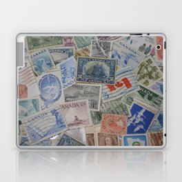 Canadian Pride Vintage Postage Stamp Collection From Canada Laptop & iPad Skin