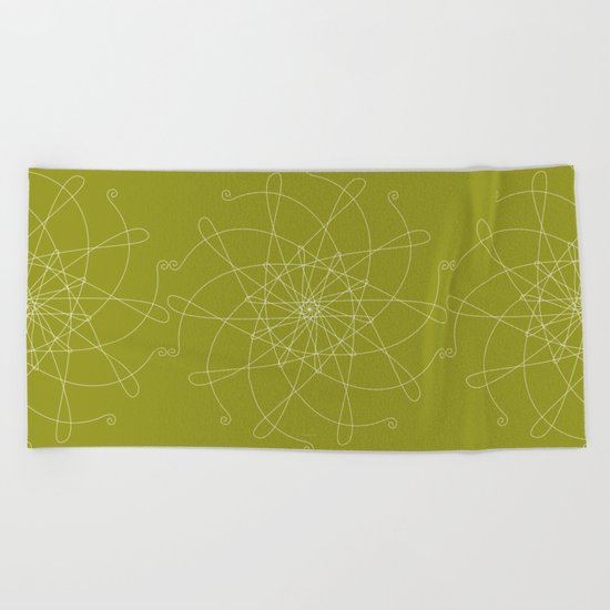 Ornament – whirling Beach Towel