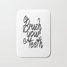 brush your teeth, printable bathroom Bath Mat