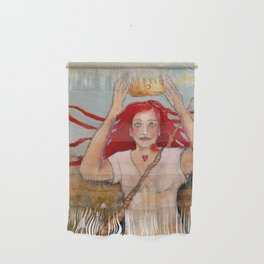 Crowning Herself Wall Hanging