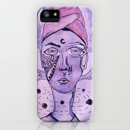 The King of The Purple Galaxy iPhone Case