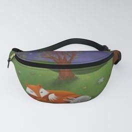 Fox And Bunny Dreaming The Night Away Fanny Pack