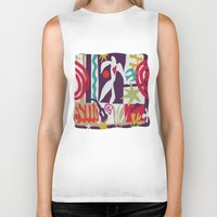 matisse Biker Tanks featuring inspired to Matisse t-shirt (violet) by Chicca Besso
