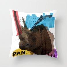 Rhinocéros Throw Pillow