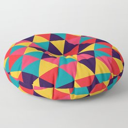 Colorful Triangles (Bright Colors) Floor Pillow