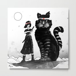 Kung Fu Cat Metal Print