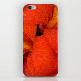 Orange Canna Lily by Teresa Thompson iPhone Skin