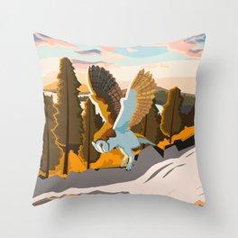 Simple Barn Owl Throw Pillow