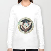 wallet Long Sleeve T-shirts featuring On the road by marzesu collages
