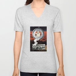 Where Is The Age Of Reasoning Now ? Unisex V-Neck