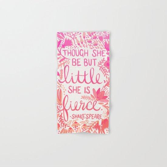 Little & Fierce – Pink Ombré Hand & Bath Towel