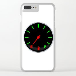 Empty Fuel Gauge Clear iPhone Case
