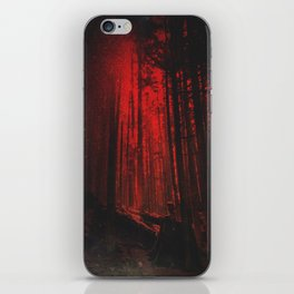Crimson Vancouver Forest iPhone Skin
