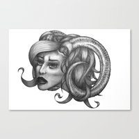 ram Canvas Prints featuring Ram by Tooth & Arrow Co
