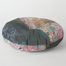 Life and Death - Gustav Klimt Floor Pillow